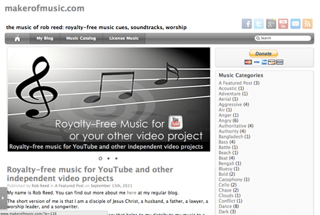 Royalty-Free Music For YouTube Videos – Rob Reed